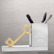 Trophy Desk Caddy - Key to Success: Gold Key